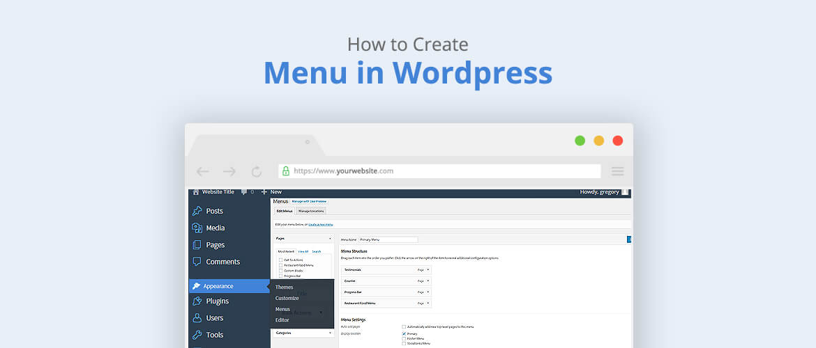 How to create a menu in WordPress?