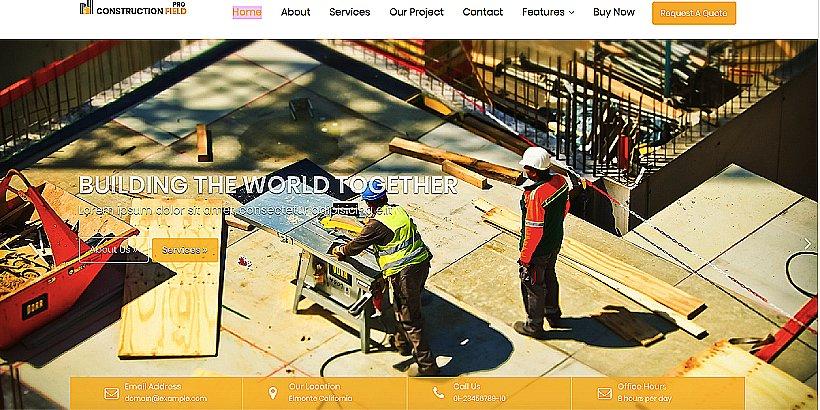 Construction Field Pro Premium Construction WordPress Themes