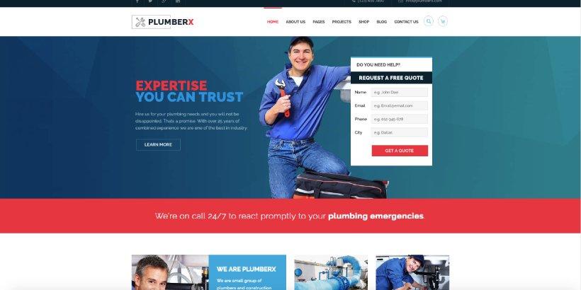 Plumber Premium Construction WordPress Themes
