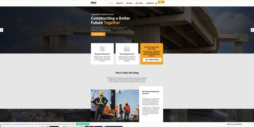 Bridge Premium Construction WordPress Themes