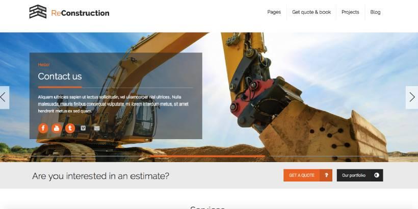 Reconstruction Premium Construction WordPress Themes