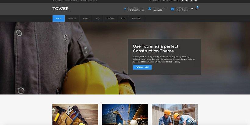 Tower Premium Construction WordPress Themes