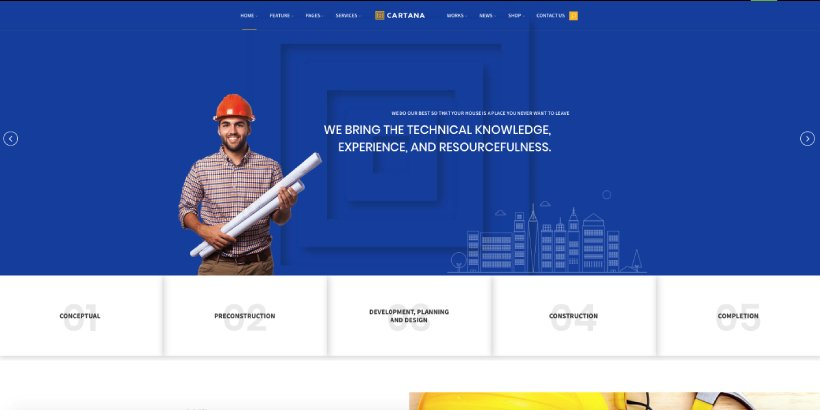 Cartana Premium Construction WordPress Themes