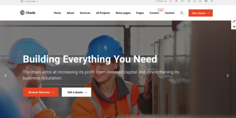 Chade Premium Construction WordPress Themes