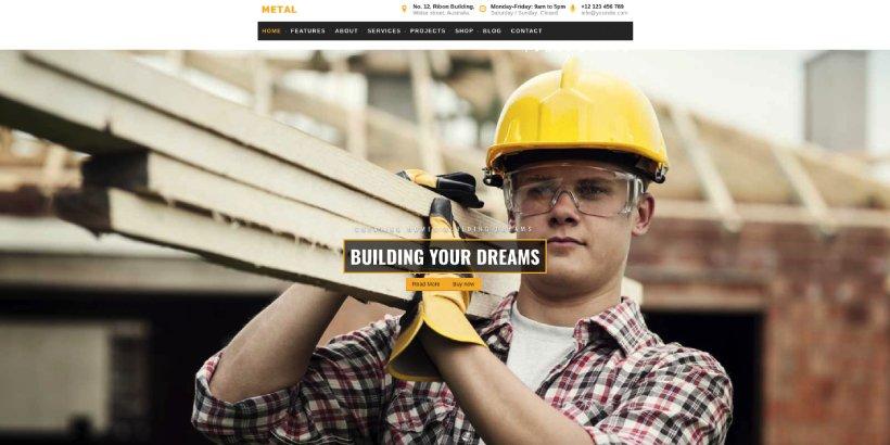 Metal Premium Construction WordPress Themes