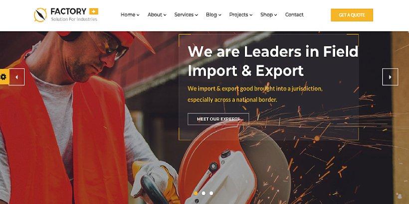 Factory Plus Premium Construction WordPress Themes