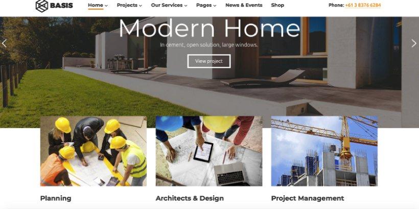Basis Premium Construction WordPress Themes