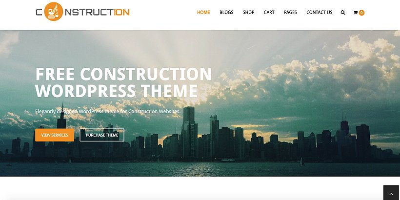 Construction Lite Free Construction WordPress Themes