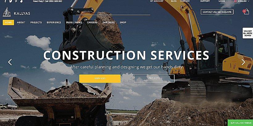 Kallyas Premium Construction WordPress Themes