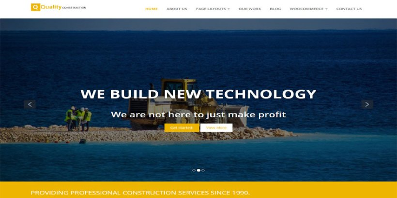 Quality Construction Free Construction WordPress Themes