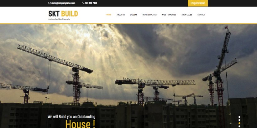 Build Lite Free Construction WordPress Themes