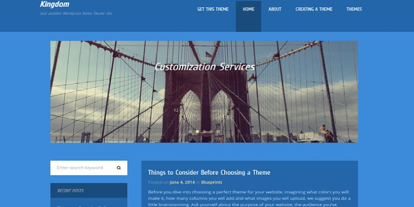Kingdom Free Construction WordPress Themes
