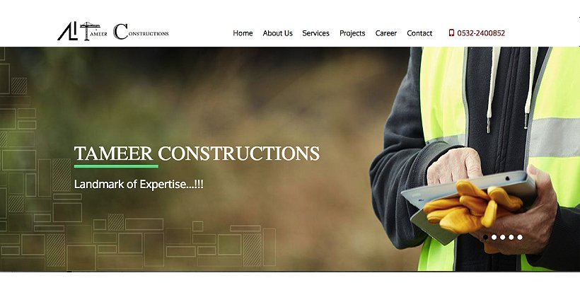 Tameer Constructions Free Construction WordPress Themes