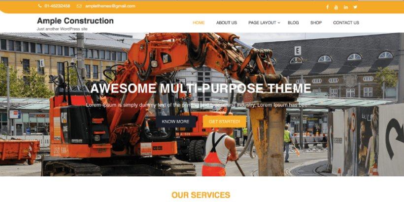 Ample Construction Free Construction WordPress Themes