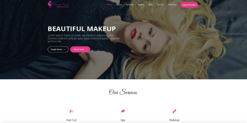 Beauty Studio Free Salon and Spa WordPress Themes