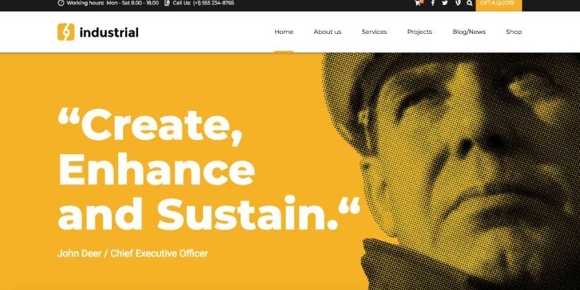 Industrial Premium Construction WordPress Themes
