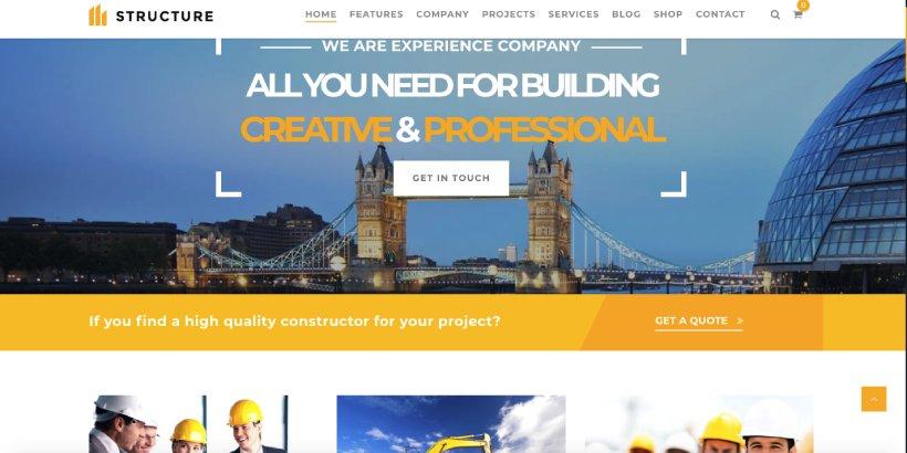 Structure Premium Construction WordPress Themes