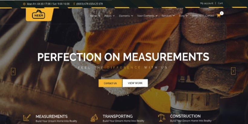 Neer Premium Construction WordPress Themes
