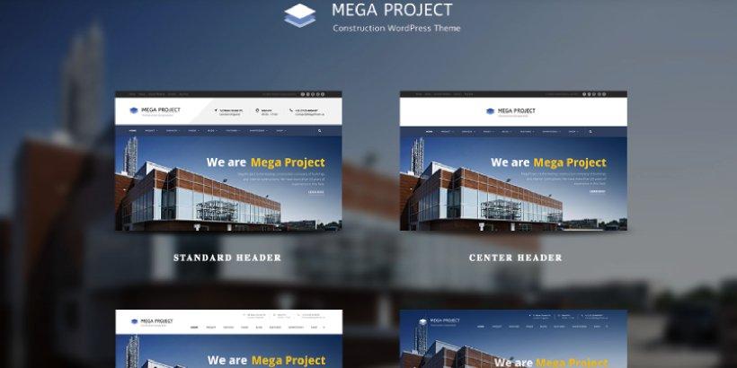 Mega Project Premium Construction WordPress Themes