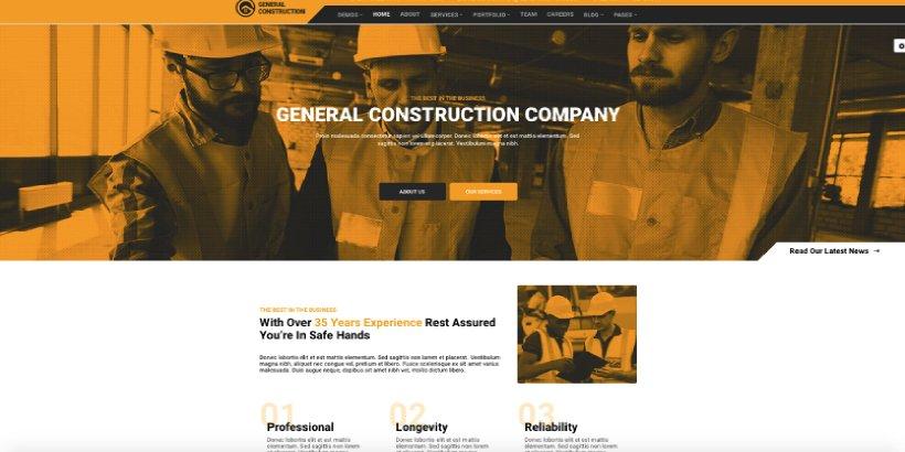 Multicon Premium Construction WordPress Themes