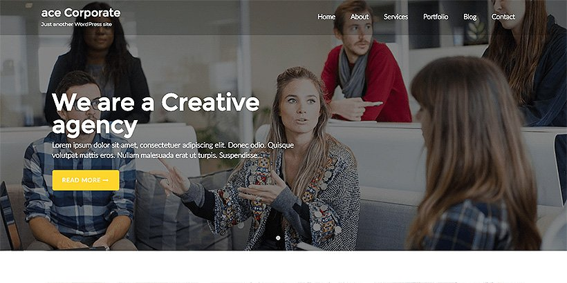 ace free corporate wordpress themes