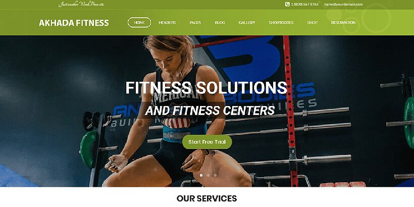 akhada free fitness wordpress themes