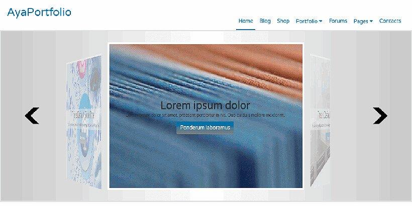 ayaportfolio free portfolio wordpress themes