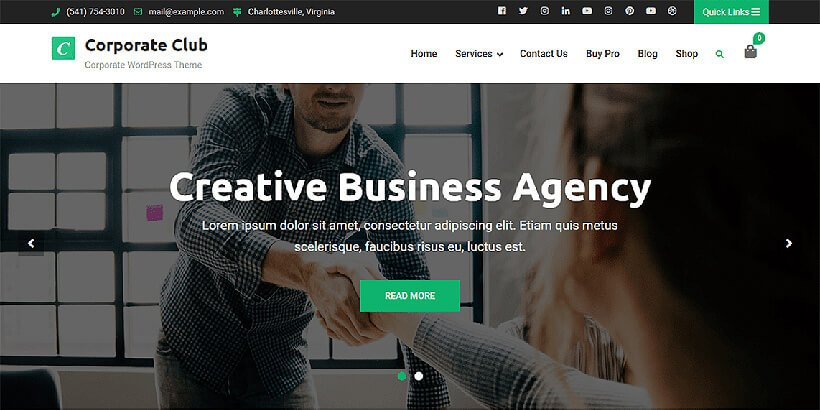 corporateclub free corporate wordpress themes