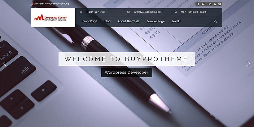 corporatecorner free corporae wordpress themes