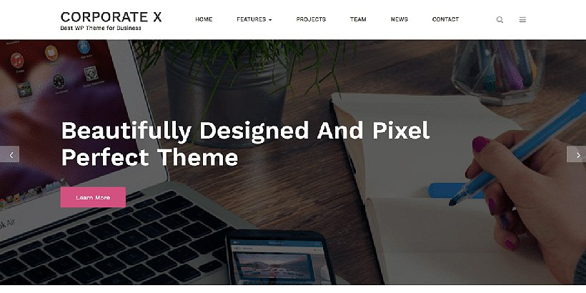 corporatex free corporate wordpress themes