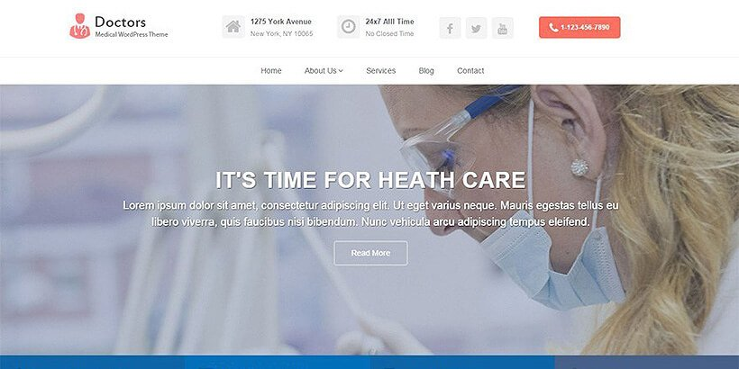 doctors free medical wordpress themes