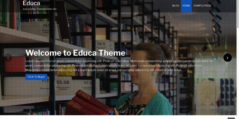 Educa Free Education WordPress Themes