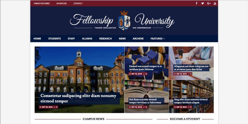 MH CampusMag Free Education WordPress Themes