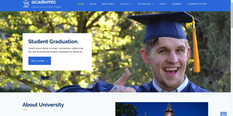 Academic Free Education WordPress Themes