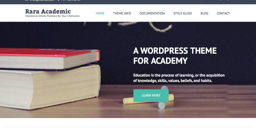 Rara Academic Free Education WordPress Themes