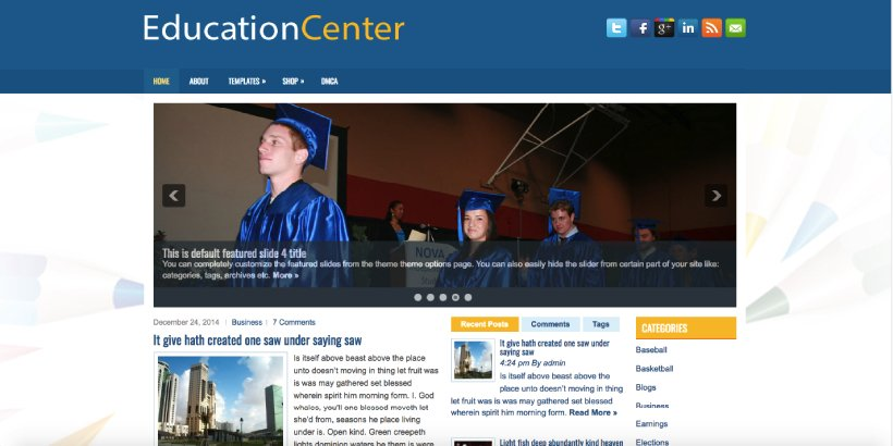 EducationCenter Free Education WordPress Themes