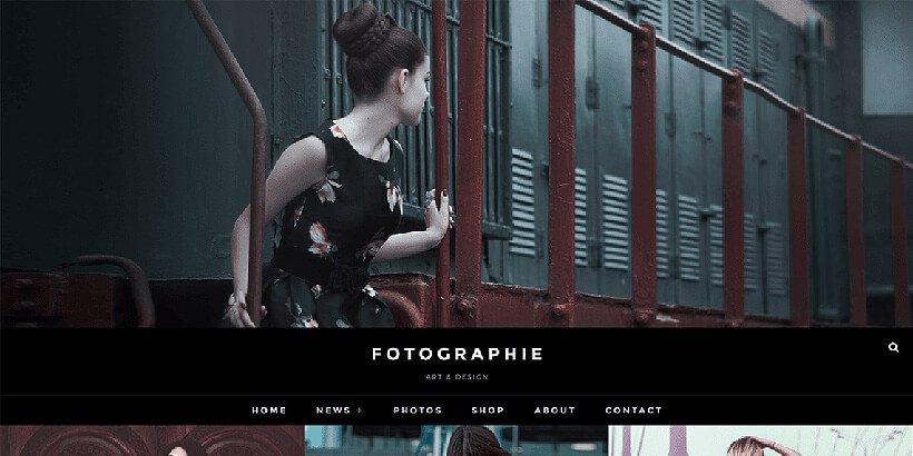 fotografie free photography wordpress themes