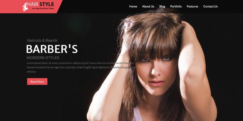 Hairstyle Free Salon and Spa WordPress Themes