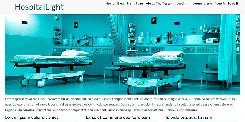 hospitallight free medical wordpress themes