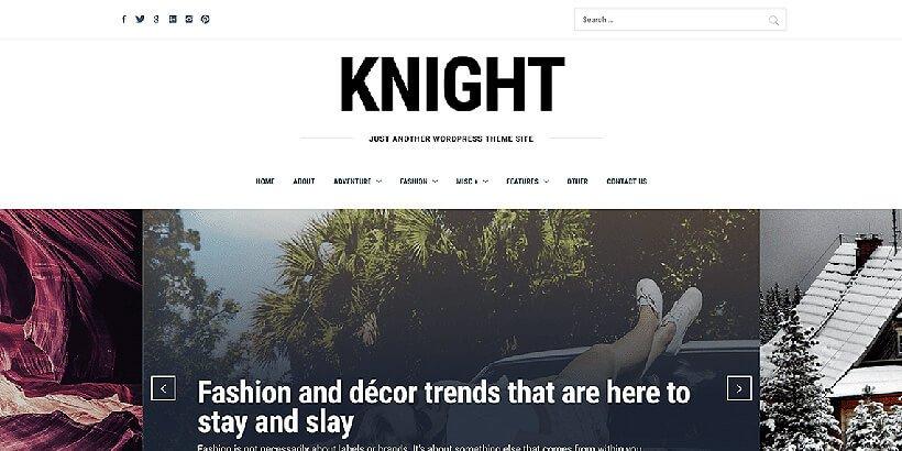 knight free photography wordpress themes