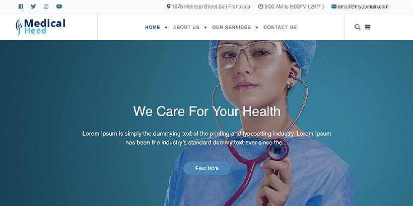 medicalhead free medical wordpress themes