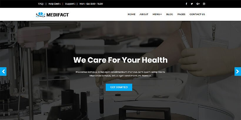 medifact free medical wordpress themes