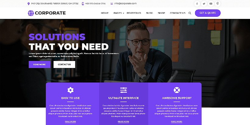 multicorporate free corporate wordpress themes
