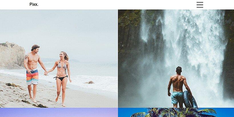 pixx free photography wordpress themes