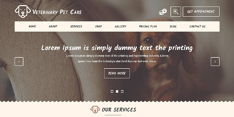 veterinarypet free medical wordpress themes