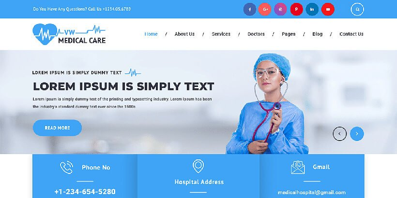 vsmedicalcircle free medical wordpress themes