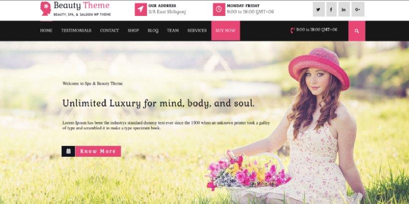VW Hair Salon Free Salon and Spa WordPress Themes