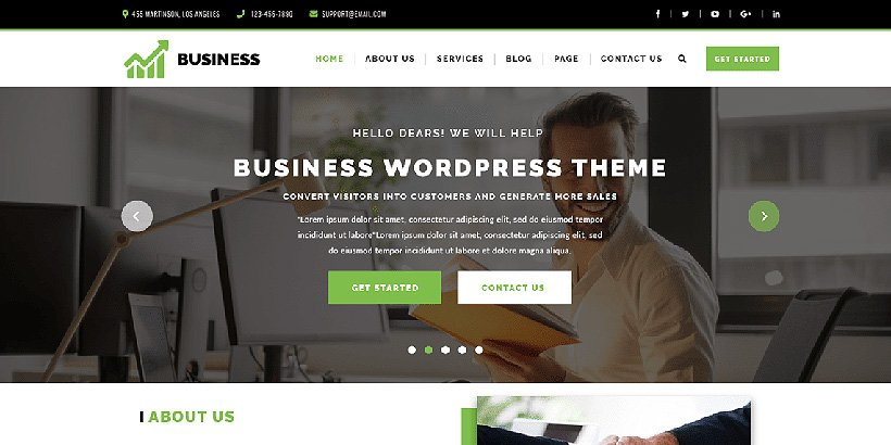 vwcorporate free corporate wordpress themes