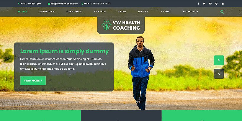 vwhealth free fitness wordpress themes