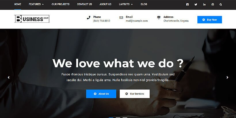 businesscast free bussiness wordpress themes